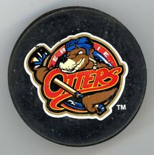 VINTAGE FULL SIZE PUCK ERIE OTTERS OHL ONTARIO HOCKEY LEAGUE