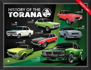 """Holden """"History of the Torana"""" Limited Edition Official Print Framed - 4779"""