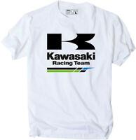 Factory Effex Licensed Kawasaki Racing T-Shirt White Mens All Sizes