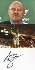 ENGLAND RUGBY UNION: BRIAN MOORE SIGNED 6x4 WHITECARD+2 UNSIGNED PHOTOS+COA