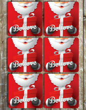 Santa Christmas Coasters Set of 6 Neoprene Coasters