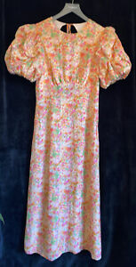 The Andamane Size 10/12 Floral Puff Sleeve Maxi Dress
