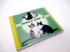 Janome Sewing Memory Card #16 embroidery cats cat calico cartoon cats
