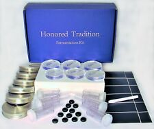 HONORED TRADITION Food Fermentation 6-PACK of STAINLESS STEEL LIDS,6 AIRLOCKS AN
