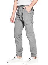 Guess Men's Elm Cargo Joggers In Grey Steel Pants Size 38