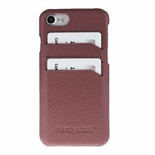 Snap-on Slim Leather Case with Credit Card Slots for Apple iPhone SE 2020 / iPho