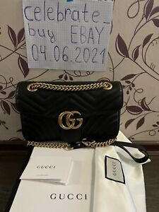 Gucci Marmont Small Shoulder Bag in Black