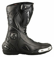 Motorradstiefel Racing Boots Leder Touringstiefel XLS schwarz Gr. 37 bis 48