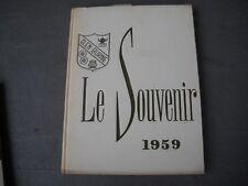 "1959 Glen Burnie High School Yearbook Maryland Md. ""Le Souvenir"""