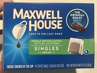 Maxwell House Original Blend Decaf Ground Coffee, Medium Roast, 19 Single Serve