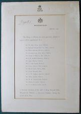 King George V Signed Document Honorary Medical Staff King Edward VII Hospital