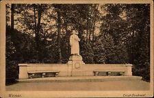Weimar Thüringen alte s/w Postkarte ~1920/30 Partie am Liszt Denkmal ungelaufen