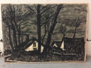 Dark Village Pencil Drawing by Unknown Artist