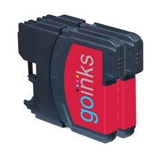 2 Magenta Ink Cartridges compatible with Brother DCP-145C DCP-375CW DCP-395CN