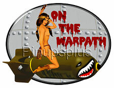 Sexy WWII style Indian Pinup Girl Nose Bomber Art Waterslide Decals S1002