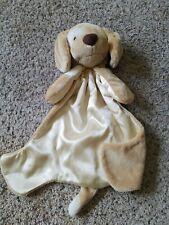 Spunky HuggyBuddy Brown Blanket satin Lovey Dog Baby Gund Puppy Huggy Buddy