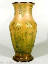 Camille FAURE' Limoges France Art Deco Kupfer Email Vase ° signiertes Unikat
