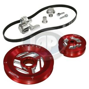 1200-1600cc VW MST RAPTOR SERPENTINE PULLEY SYSTEM KIT ANODIZED RED M10400410