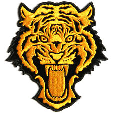 Embroidered Vicious Orange Tiger Sew or Iron on Patch Biker Patch