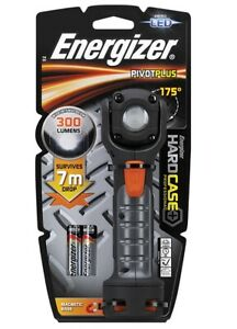 Energizer Hardcase LED Pivot Torch 175° Angle With 2 x AA Batteries Included