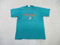 VINTAGE Miami Dolphins Shirt Adult Large Green Orange NFL Football Mens 90s B55*