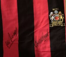 MAN CITY 1969 FA CUP WINNERS SHIRT SIGNED BY THE LATE NEIL YOUNG & TONY BOOK £75