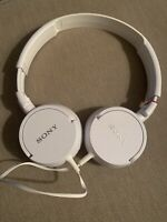 Sony MDR-ZX110 On the Ear Headphones - White