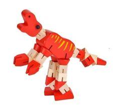 (1) Legno Rosso Dinosauro Nervosismo Giocattolo Puzzle Cube per Bambini