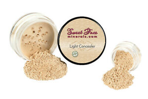 LIGHT CONCEALER Mineral Makeup Sheer Bare Skin Corrector Powder Cover SPF 20