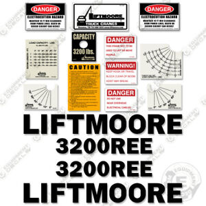 Liftmoore 3200REE Decal Kit Crane Arm Replacement Stickers ( 7-Year Vinyl ) 3M