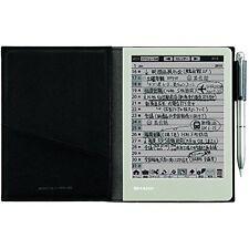 NEW Sharp Electronic Memo Pad Handwriting Notebook WG-S30-B Black Japan new.