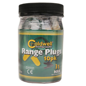 Caldwell 31 NRR Range Plugs with Cord and Clip for Outdoor, Range, Shooting, Com