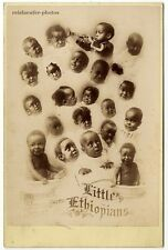 1881, Joshua Smith, Chicago, Little Ethiopians, Black Americana, Orig cab. photo