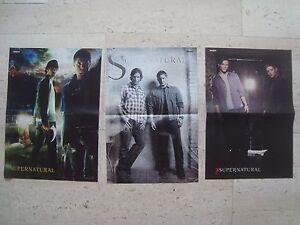 3 cool SUPERNATURAL Jensen Ackles Jared Padalecki magazine poster centerfold