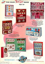 1967 ADVERT Ohio Art Co COLOR Toaster Tea Sets Toy Play Astro Ray Gun Ring Bac +