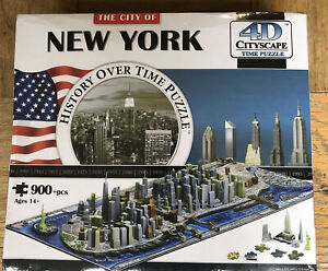 New City of New York History Over Time 4D Puzzle 900+ Pieces