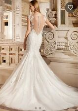 BRAND NEW Demetrios Wedding Gown 1490 Ultra Sophisticated