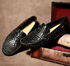 fashion Mens leather Casual slip on loafer moccasins comfort driving dress shoes