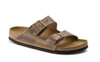 BIRKENSTOCK ARIZONA MEN'S-Soft Footbed- Oiled Leahter in Tobacco