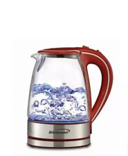 New Brentwood Tempered Glass Tea Kettles, 1.7-Liter, Red