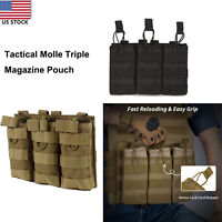 Triple Mag Pouch Stacker OPEN Top  5.56 .223 Mag Bag Pack ​Mag Molle Equipment​