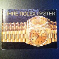 Ihre Rolex Oster booklet German version 1991