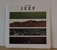 1988 JEEP DEALERS BROCHURE - WRANGLER, COMANCHE, CHEROKEE, WAGONEER-UNCIRCULATED