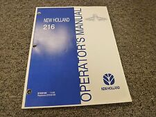 New Holland 216 Unitized Hay Rake Owner Operator Maintenance Manual User Guide