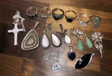 - Rings, Etc - 84.5g Lot Of Vintage Sterling Silver Jewellery
