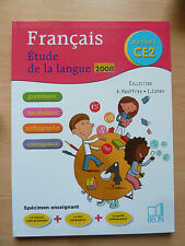 Francais CE2 Etude de la langue Guide pedagogique, programmes 2008