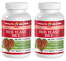 Red Yeast Rice Organic.Heart Health  and  Reduces Cholesterol Level (2 Bottles)