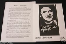 MANDY BARNETT 'ALWAYS…PATSY CLINE' 1995 PRESS KIT--PHOTO