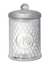 Embossed Bee Glass Honeycomb Vase Storage Jar Medium (3 sizes available)
