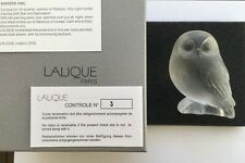 Lalique Crystal Shivers Owl